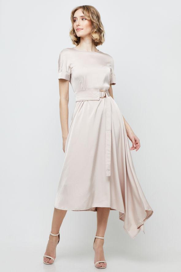 Šaty béžovo-ružové